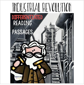Industrial Revolution Leveled Text Reading Passages