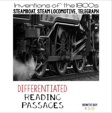 Load image into Gallery viewer, Inventions of Steamboat, Steam Locomotive, Telegraph Passages