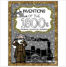 Load image into Gallery viewer, Inventions of the 1800s: Telegraph, Steamboat, Steam Engine Sorting Activity