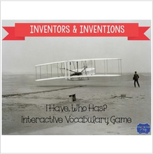 "Load image into Gallery viewer, Inventors and Inventions Interactive Vocabulary Game ""I Have, Who Has?"" Cards"