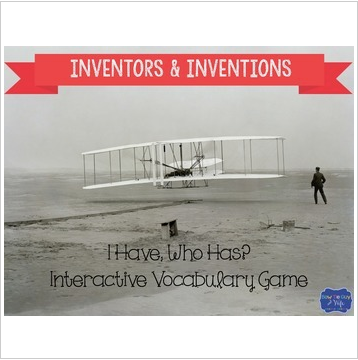 Inventors and Inventions Interactive Vocabulary Game