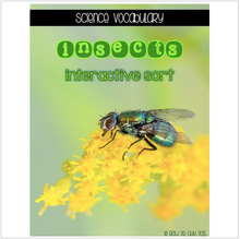 Load image into Gallery viewer, Insects {Interactive Vocabulary Sort}
