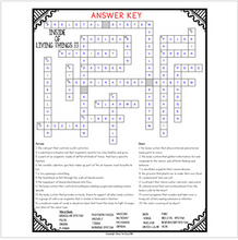 Load image into Gallery viewer, Inside of Living Things Comprehension Crossword Part II