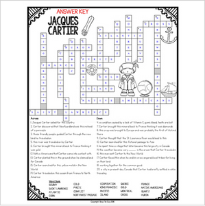 Jacques Cartier Crossword