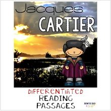 Load image into Gallery viewer, Jacques Cartier Nonfiction Differentiated Reading Passages & Questions