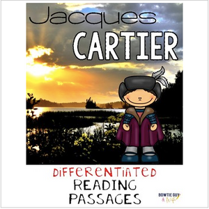Jacques Cartier Nonfiction Differentiated Reading Passages & Questions