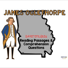 Load image into Gallery viewer, James Oglethorpe Differentiated Reading Passages & Questions