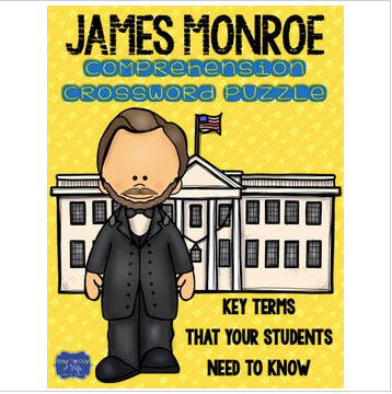 James Monroe Crossword