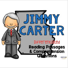 Load image into Gallery viewer, Jimmy Carter Differentiated Reading Passages & Questions