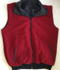 Green Coast Reversible Merino Wool Vest Large