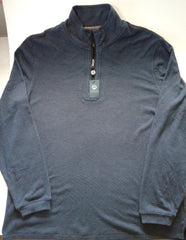 Viyella Men's Med Blue 1/4 Zip  Pullover Sweater Sz L (New with tags)