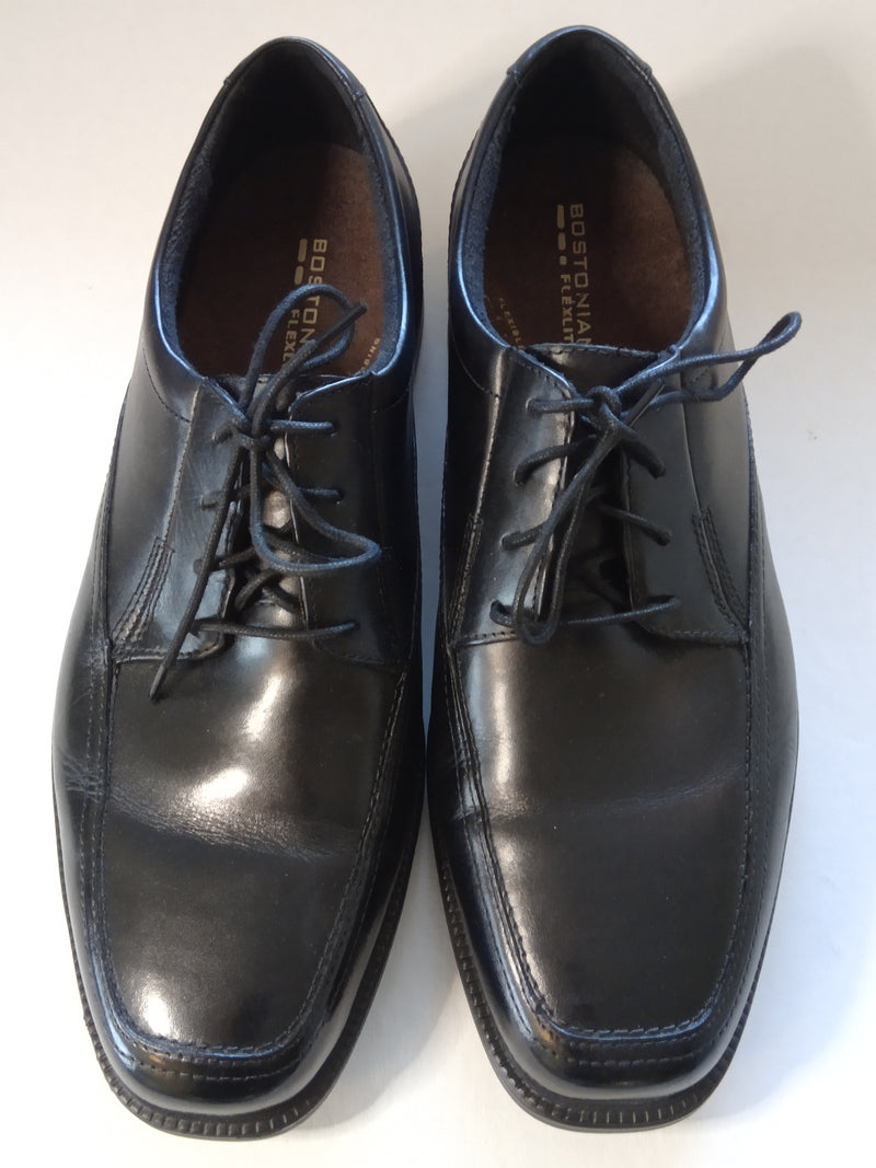 Men's Bostonian Flexlite Leather Lace Up Ipswich Apron Loafers, Black, Size 11 W