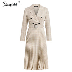 Simplee - Blazer Top and Pleated Skirt