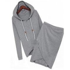 Oufisun - Long Sleeve Hooded 2pc Set