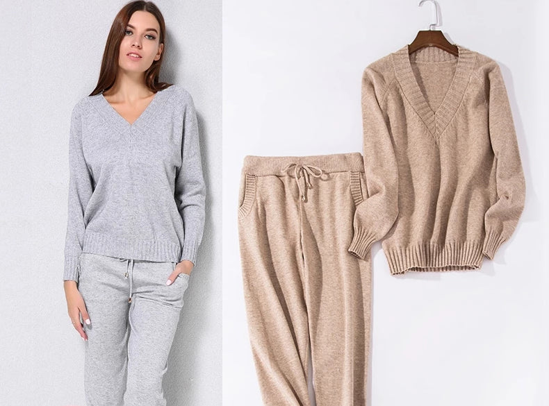 Casual Knitted 2Pc Track Suit
