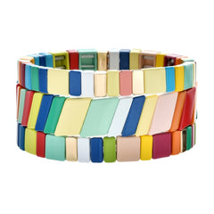 Colour Block Metal Bracelet
