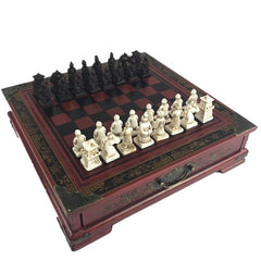 Chinese Retro Terracotta Warriors Chess Set