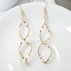 Double Loop Drop Earrings