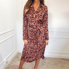 IYAEGE - Leopard Chiffon Dress