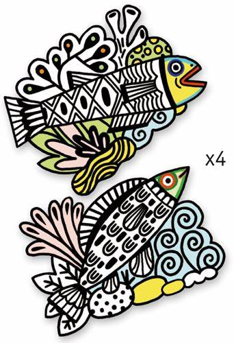 DJECO – VELVET COLOURING PRETTY FISHES