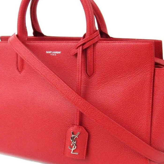32913b75b637 Saint Laurent YSL Womens Red Epson Handbag 400413
