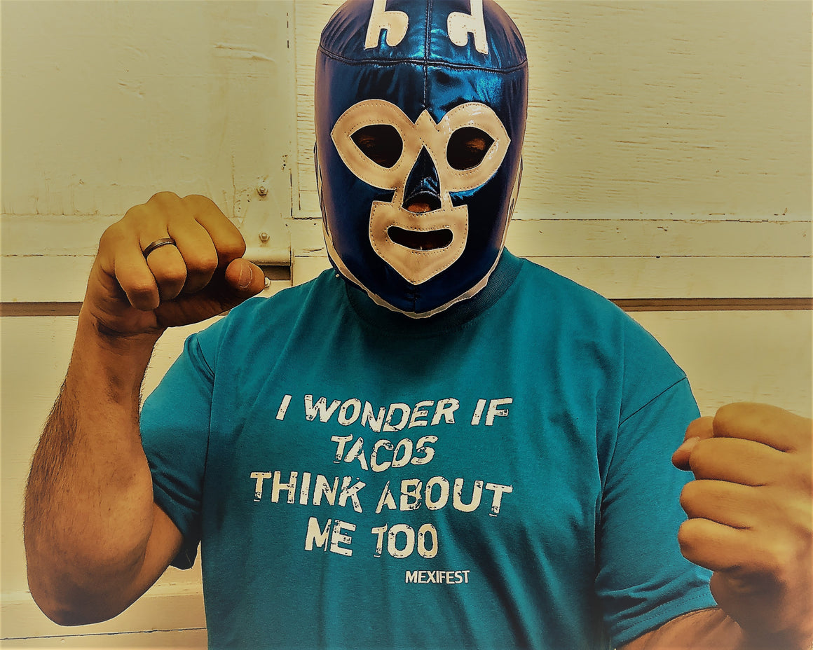 Tacos think about me - T-shirt in blue