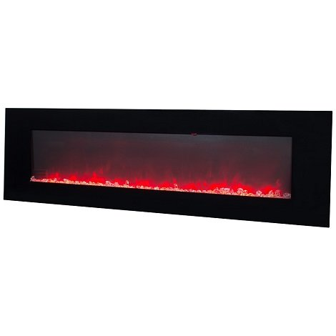 Semineu electric 3D negru 60 inch