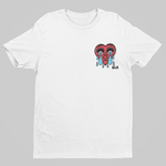 Shattered Heart Tee - White - XLAPPAREL