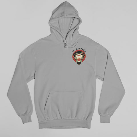 Rose Panther Hoodie - Grey - XLAPPAREL