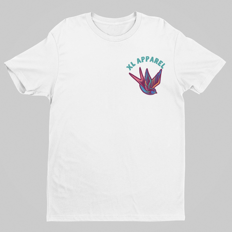 Trad Swallow Tee - White - XLAPPAREL