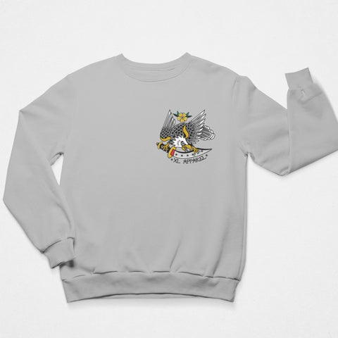 Trad Eagle Sweatshirt - Grey - XLAPPAREL