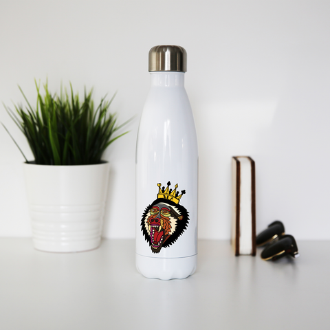 Trad Baboon Stainless Steel Water Bottle - XLAPPAREL
