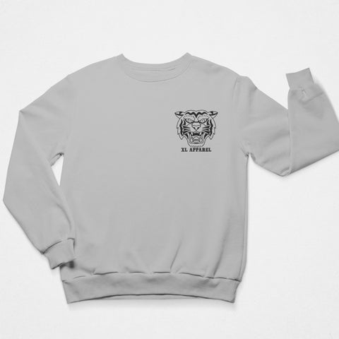 Trad Tiger Sweatshirt - Grey - XLAPPAREL