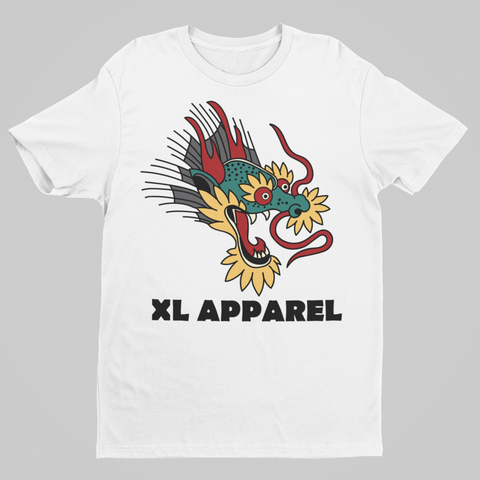Dragon Tee - White - XLAPPAREL