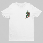 Snake & Rose Tee - White - XLAPPAREL