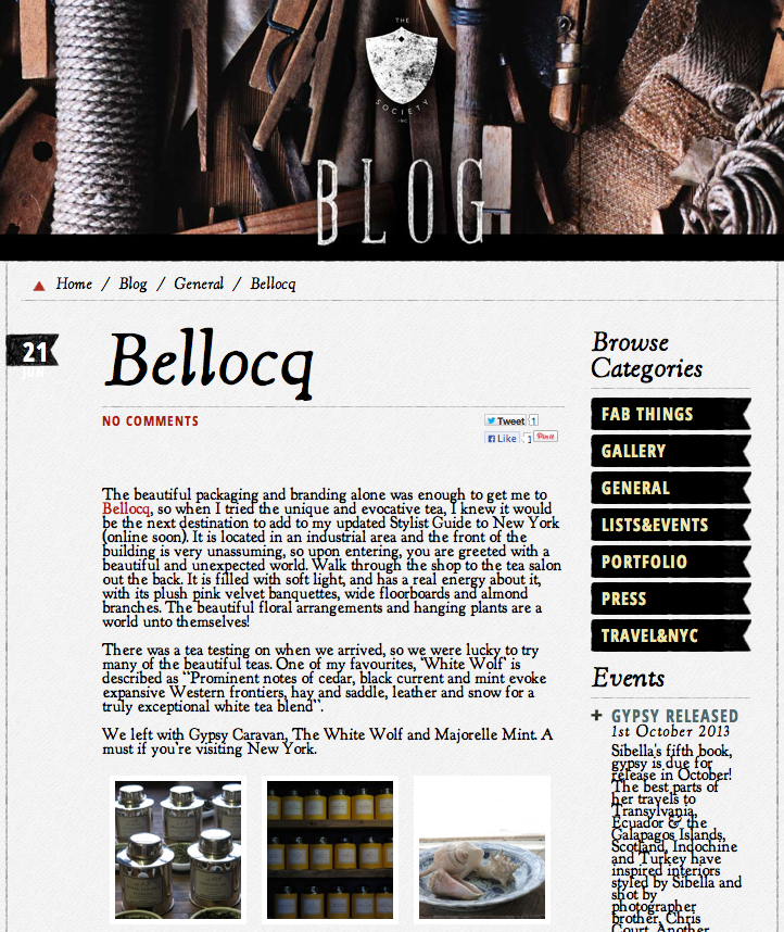 The Society Inc - Bellocq
