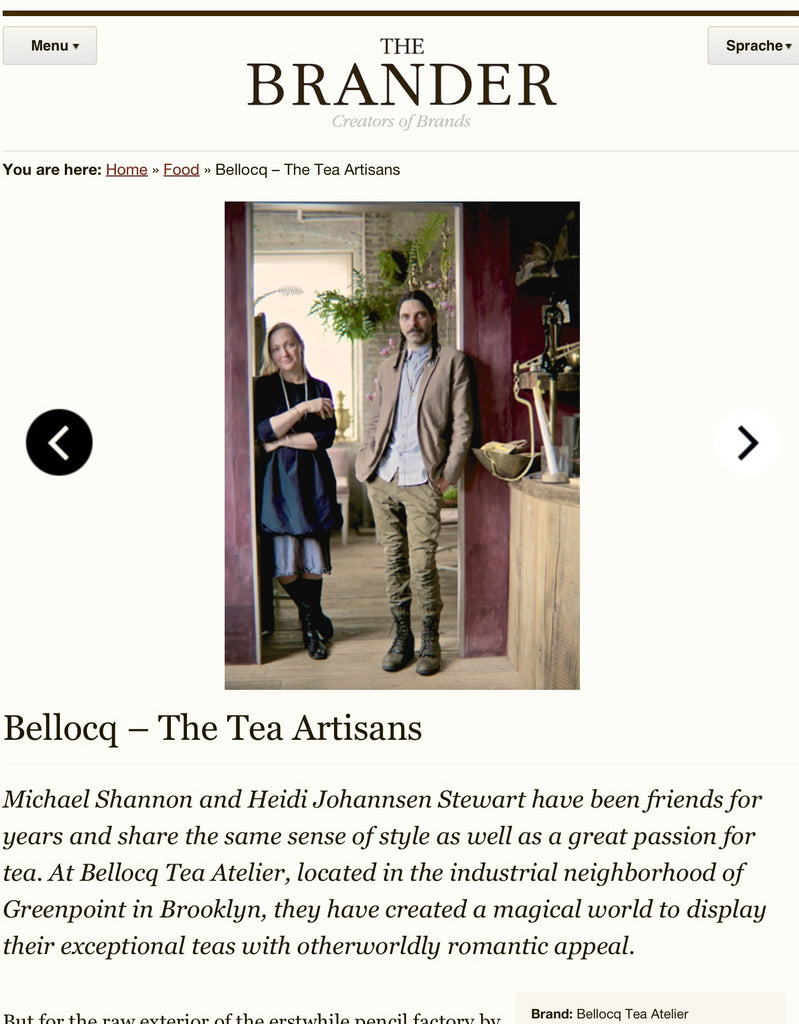The Brander - Bellocq: Tea Artisans