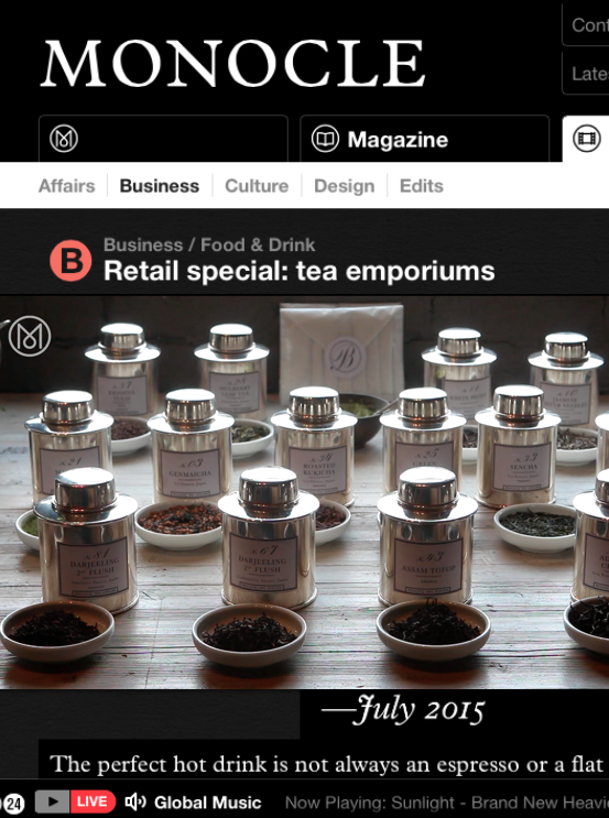 Monocle Mag - Tea Emporiums