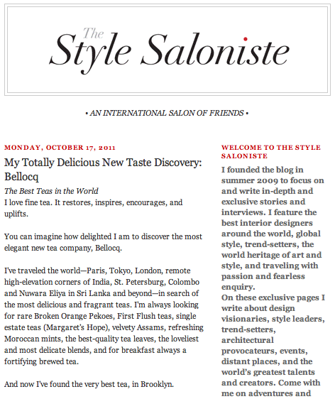 The Style Saloniste - My Totally Delicious New Taste Discovery