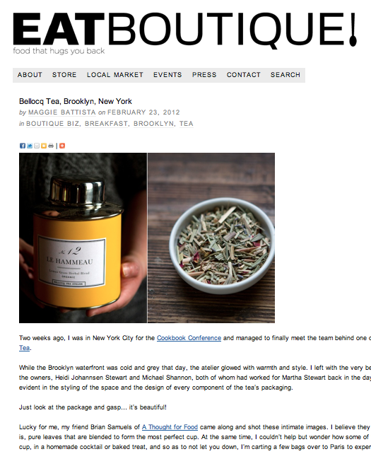 EatBoutique - Bellocq Tea