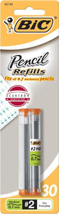 BIC Pencil Lead Refills, Medium Point (0.7mm), 30ct (L730P1)
