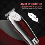 Wahl Profesional 5-Star Detailer with Adjustable T Blade for Extremely Close Trimming and Clean and Crisp Lines for Professional Barbers and Stylists - Model 8081