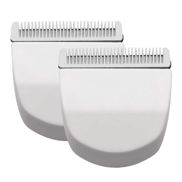 2PCS White Professional Peanut Clipper/Trimmer Snap On Replacement Blades #2068-300-Fits Compatible with Professional Peanut Hair Clipper/Trimmer