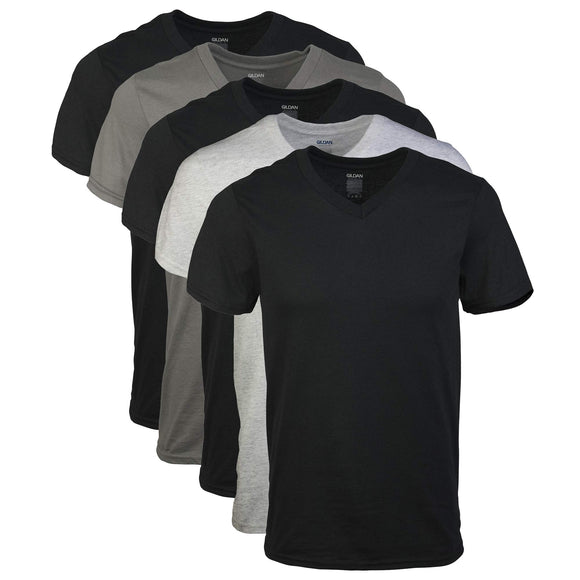 Gildan Men's Assorted V-Neck T-Shirts Multipack XX-Large Assorted (5 Pack)