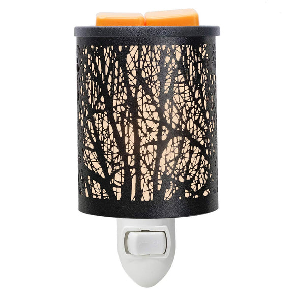 EQUSUPRO Metal Plug-in Wax Melt Warmer Wax Electric Burner Melter Fragrance Warmer Night Light for Home Office Bedroom Living Room Gifts Decor (Tree) Tree