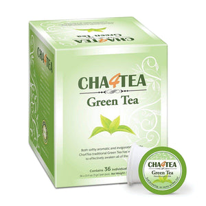 Cha4TEA 36-Count Green Tea Pods for Keurig K-Cup Brewers