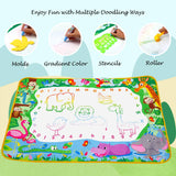 Aqua Magic Doodle Mat Extra Large Water Drawing Coloring Mat Mess Free Educational Kids Toy Gifts for Toddles Boys Girls 3+, 40 x 28 inches, Forest Theme