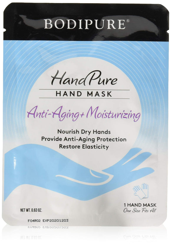 BODIPURE HandPure Hand Mask – Intense Repairing for Extra Dry Skin, Dry Hand - Anti-Aging & Natural Skin Treatment - Moisturizing Gloves – Repair Rough & Dry Skin for Women & Men - 1 Pack