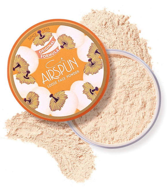Coty Airspun Loose Face Powder 2.3 oz. Translucent Tone Loose Face Powder, for Setting Makeup or as Foundation, Lightweight, Long Lasting,Pack of 1 Pack of 1