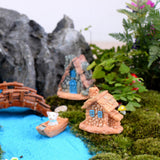 Trasfit 4 Pieces Miniature Fairy Garden Stone House - Mini Fairy Cottage House for Garden & Patio Decoration - Accessories for Home Decoration Outdoor Décor (4 Stone House) 4 STONE HOUSE